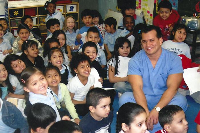 Dr Thanasis with kids