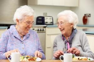 Older Women Eating